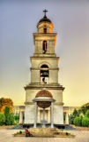Bell tower of the Nativity Cathedral in Chisinau Stock Images