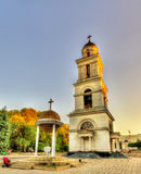 Bell tower of the Nativity Cathedral in Chisinau Royalty Free Stock Image
