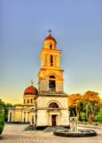 Bell tower of the Nativity Cathedral in Chisinau Stock Photo