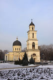 Bell tower of Nativity Cathedral in Kishinev (Chișinău) Moldova Stock Photography