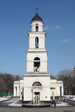 Bell tower of Nativity Cathedral in Kishinev Chișinău Moldova Royalty Free Stock Image