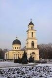 Bell tower of Nativity Cathedral in Kishinev (Chișinău) Moldova Stock Photography