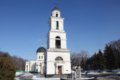 Bell tower of Nativity Cathedral in Kishinev Chișinău Moldova Stock Photo