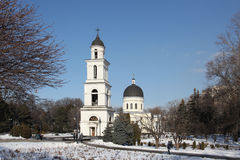 Bell tower of Nativity Cathedral in Kishinev Chișinău Moldova Stock Image