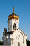 Bell tower near Cathedral of Christ the Saviour Royalty Free Stock Photography