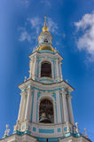Bell tower of Nikolsky Cathedral Royalty Free Stock Image