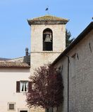 Bell Tower, Norcia. Royalty Free Stock Photos