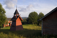 Bell tower on a Norwegian farm Royalty Free Stock Photography