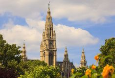Bell Tower Of St. Stephen`s Cathedral, Vienna Royalty Free Stock Photography