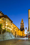 Bell Tower Of The Mezquita Cathedral, Cordoba, Spain Royalty Free Stock Photos