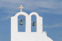 Bell tower in Oia Stock Photos