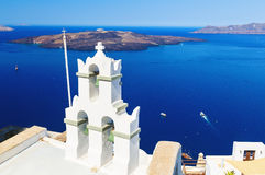 Bell tower in Oia Santorini Stock Photography