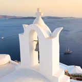 Bell tower in Oia, Santorini island, Greece. Royalty Free Stock Images