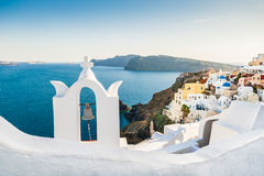 Bell tower in Oia town Royalty Free Stock Image