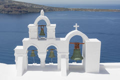 Bell tower  in Oia village, Santorini island Stock Image