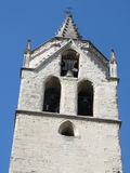 Bell tower of old church Stock Images