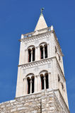 Bell tower of old church in Zadar, Croatia Stock Photos