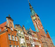Bell tower in old Gdansk Stock Photography