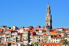 Bell tower and old town of Oporto Royalty Free Stock Photography