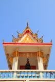 Bell tower. Is one category of the Thai architectural structure in a temple for signaling the monks to do their praying ceremony royalty free stock photo