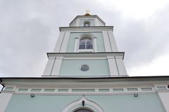 The bell tower of orthodox cathedral. The bell tower of the Orthodox Cathedral in Zhitomir Royalty Free Stock Image