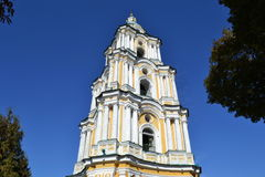 The bell tower of orthodox cathedral. Royalty Free Stock Images