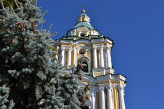 The bell tower of orthodox cathedral. The bell tower of the Orthodox Cathedral of the XVII century Royalty Free Stock Image