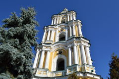 The bell tower of orthodox cathedral. Royalty Free Stock Photos