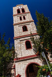 Bell tower of orthodox church in Pefkochori, Greece Royalty Free Stock Image
