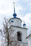 Bell tower of Orthodox Church of the Transfiguration Stock Photography
