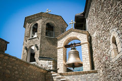 Bell-tower of orthodox monastery Royalty Free Stock Photography