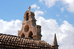 The bell tower of the Orthodox monastery Stock Image