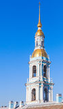 Bell tower of Orthodox St. Nicholas Naval Cathedral. In St-Petersburg, Russian Federation Royalty Free Stock Image