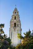 Balboa Park Bell Tower. Bell tower overlooking a park in San Diego, California Royalty Free Stock Image