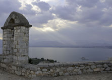 Bell tower of the Palamidi fortress in Nafplio, Greece Royalty Free Stock Photography