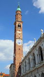 Bell tower and Palladian Basilica by Andrea Palladio. In Vicenza Italy Royalty Free Stock Photography