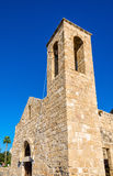 Bell tower of Panagia Chrysopolitissa Basilica in Paphos - Cypru Royalty Free Stock Images