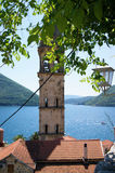 Bell tower in Perast Stock Images