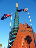 Bell Tower, Perth. Bell Tower is a modern, famous landmark of Perth, besides Swan river, Perth, Western Australia Stock Image