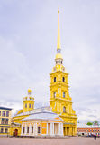 Bell tower of the Peter and Paul Cathedral in St. Petersburg Royalty Free Stock Image
