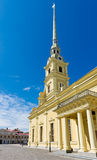 Bell tower of the Peter and Paul Cathedral Royalty Free Stock Photography