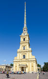 Bell tower of Peter and Paul cathedral in St Petersburg, Russia Royalty Free Stock Image