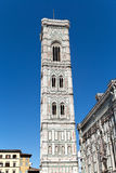 Bell Tower on Piazza del Duomo in Florence in Italy Stock Photos