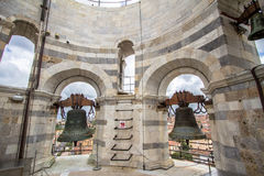 Bell in tower of Pisa, Italy Stock Images