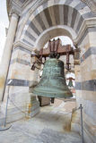 Bell in tower of Pisa, Italy Stock Photography