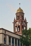 Bell Tower in Plaza District of Kansas City Missou. Bell Tower over Plaza District of Kansas City Missouri Stock Photo