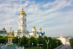Bell tower of Pochayiv Lavra Stock Photos