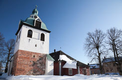 Bell-tower Porvoo, Finland Stock Images