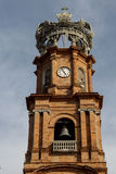 Bell tower of Puerto Vallarta Cathedral. Royalty Free Stock Image