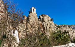 Bell tower on a rock of Guadalest. Spain Stock Photo